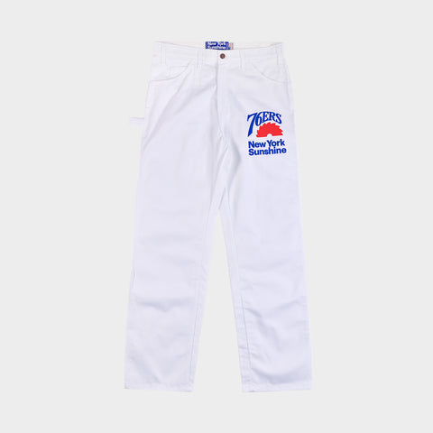 NEW YORK SUNSHINE X 76ERS DICKIES INSTALL TEAM PAINTER'S PANT - WHITE