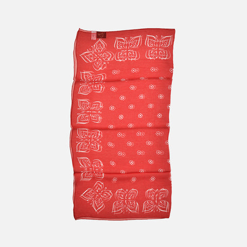 BANDANA SCARF SILK CREPE/PAILSEY - RED