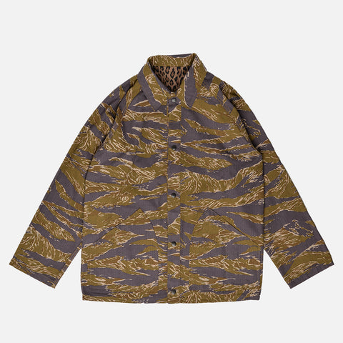 REVERSIBLE FIELD JACKET - LEOPARD / TIGER CAMO