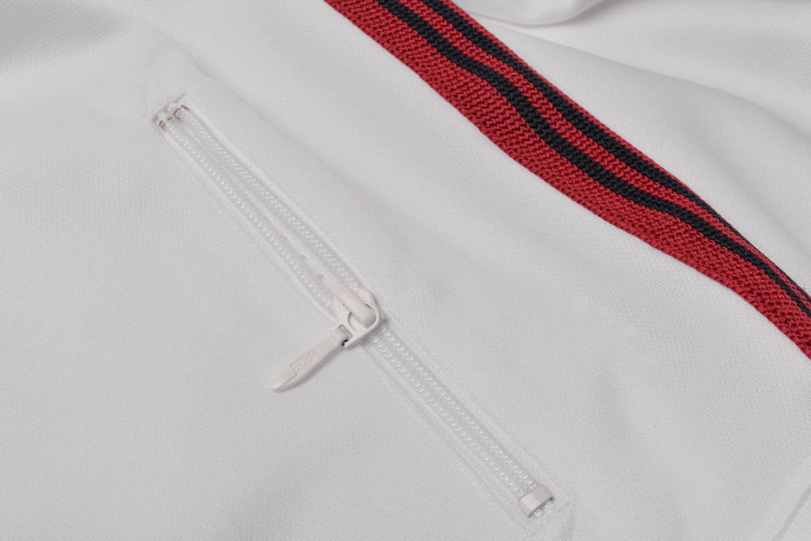TRACK JACKET POLY SMOOTH - WHITE