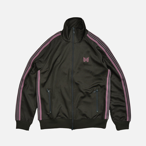 TRACK JACKET POLY SMOOTH - GREEN