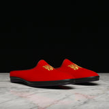 PAPILLON EMB. MULE - RED