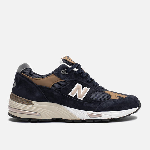 991 MADE IN ENGLAND - NAVY / BROWN