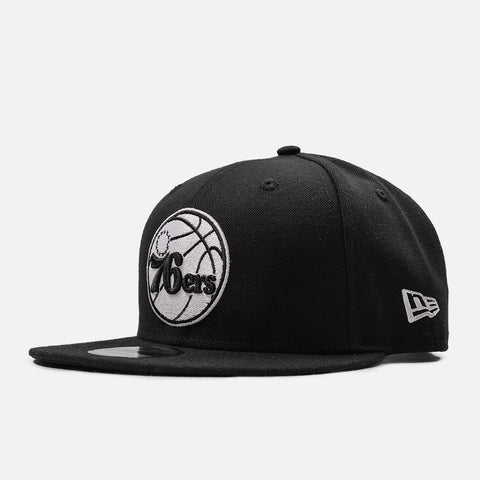 76ERS 9FIFTY BASIC SNAPBACK - BLACK