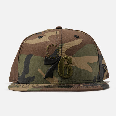 76ERS 9FIFTY ORIGINAL FIT SNAPBACK - WOODLAND CAMO