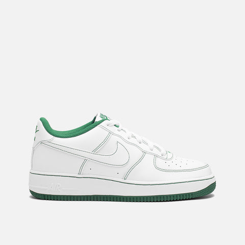 "AIR FORCE 1 (GS) ""CONTRAST STITCH"" - WHITE / PINE GREEN"