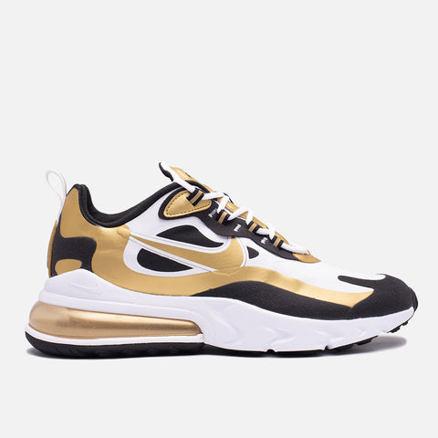 AIR MAX 270 REACT - WHITE / METALLIC GOLD / BLACK