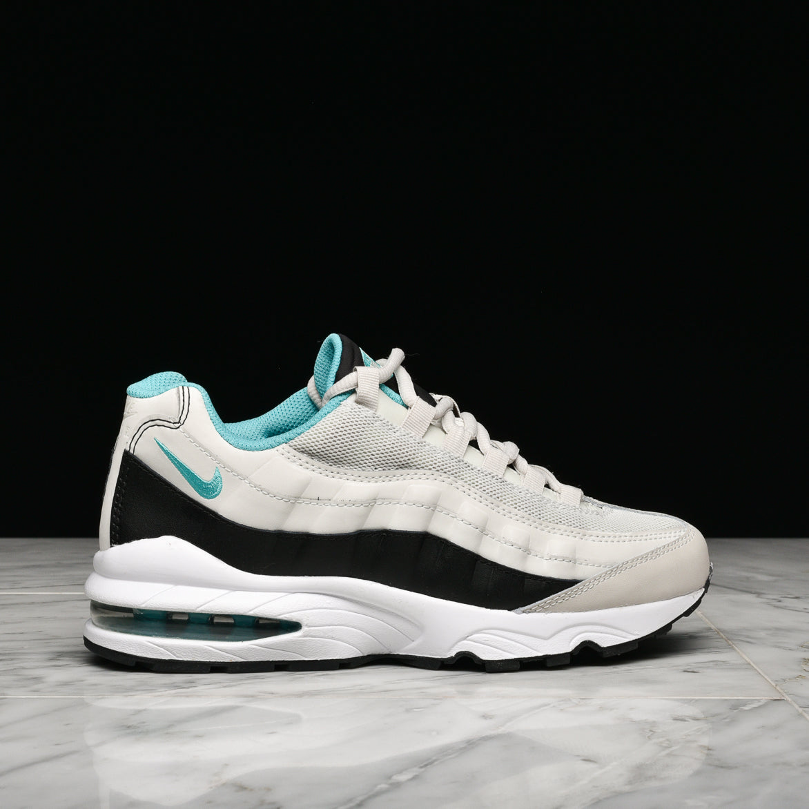 NIKE AIR MAX `95 (GS) LIGHT BONE SPORT TURQUOISE