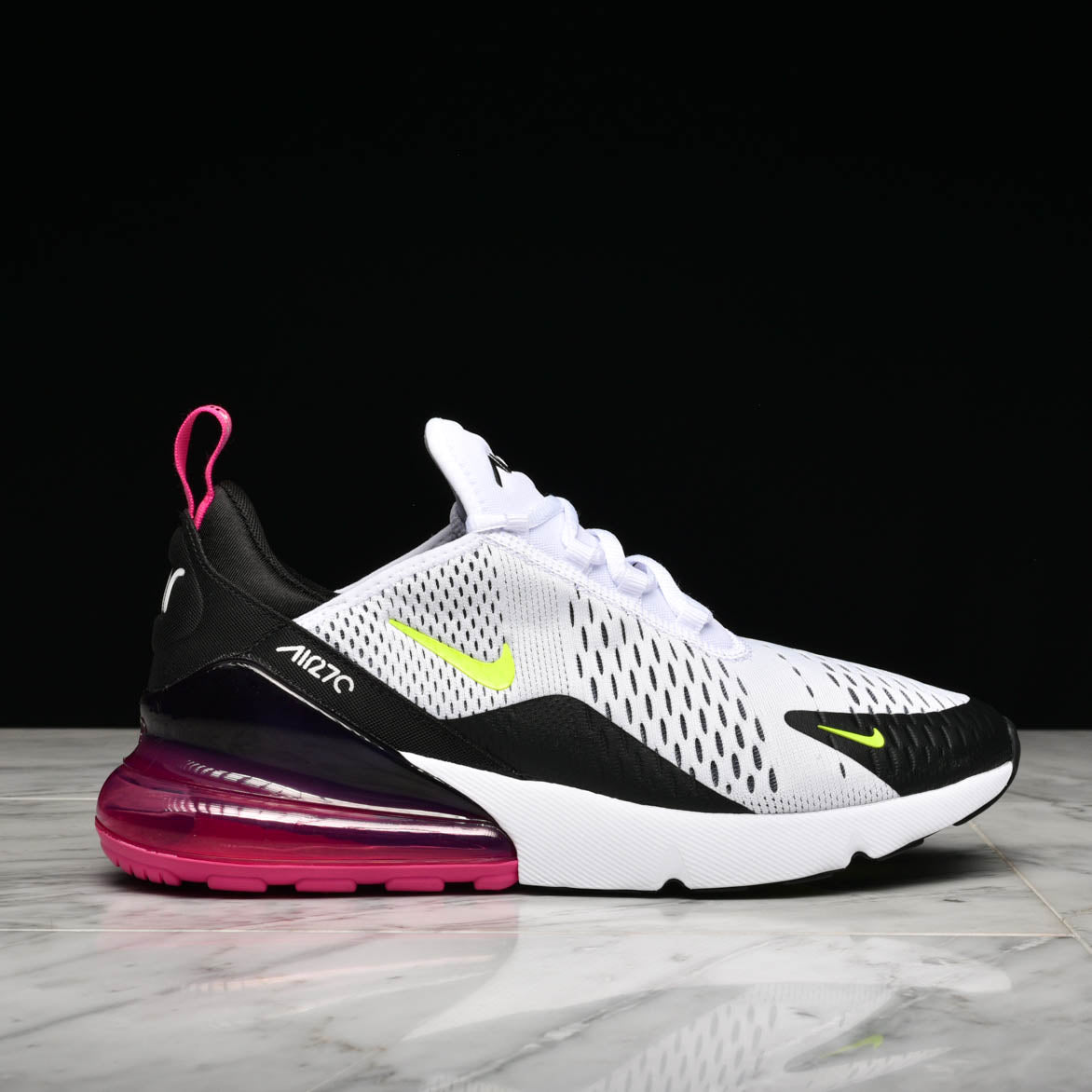 newest c4156 94be1 AIR MAX 270 - WHITE / VOLT / BLACK / LASER FUCHSIA