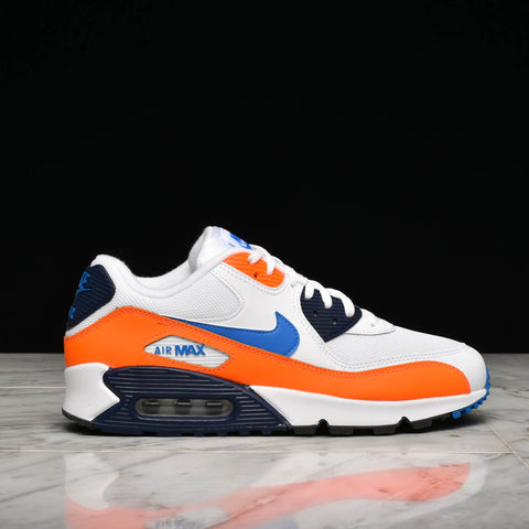 AIR MAX 90 ESSENTIAL - WHITE / PHOTO BLUE / TOTAL ORANGE