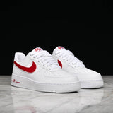 AIR FORCE 1 `07 3 - WHITE / GYM RED