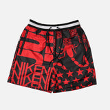 NSW PRINTED SOCCER SHORT - UNIVERSITY RED