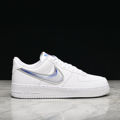 "AIR FORCE 1 `07 LV8 3 ""OVERSIZED SWOOSH"" WHITE / PURPLE"