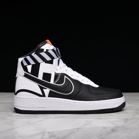 "AIR FORCE 1 HIGH `07 LV8 ""FORCE LOGO"" - BLACK / WHITE"
