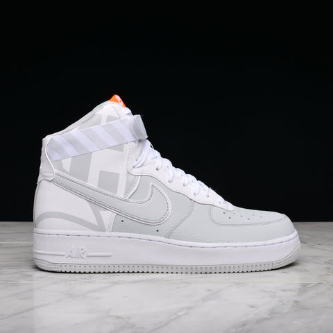 "AIR FORCE 1 HIGH `07 LV8 ""FORCE LOGO"" - PURE PLATINUM / WHITE"