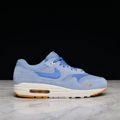 "AIR MAX 1 PREMIUM ""MINI SWOOSH"" - WORK BLUE / MOUNTAIN BLUE"