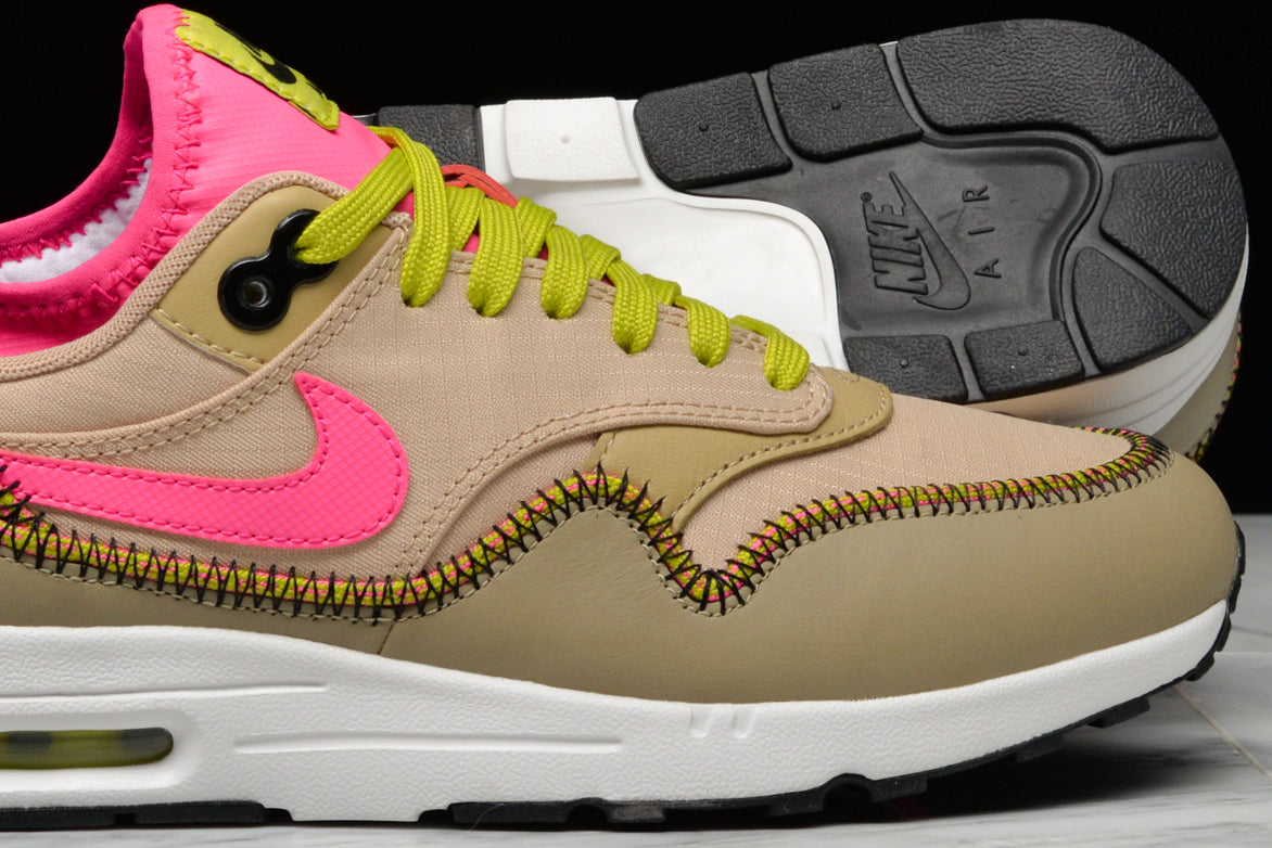 WMNS NIKE AIR MAX 1 ULTRA 2.0 SI MUSHROOM BAMBOO DEADLY PINK