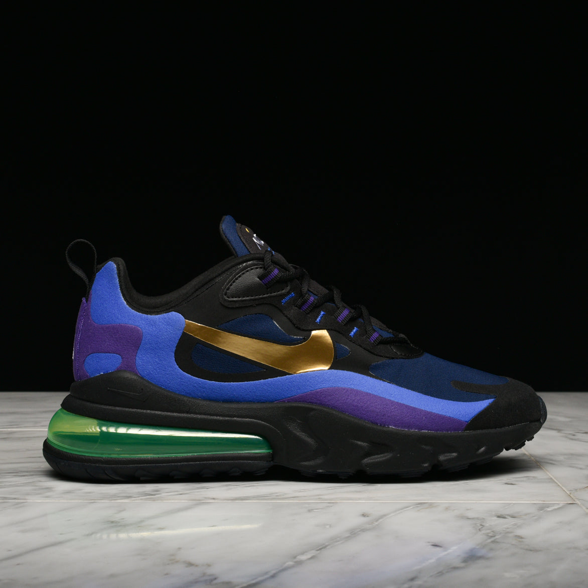 air max 270 react black and gold