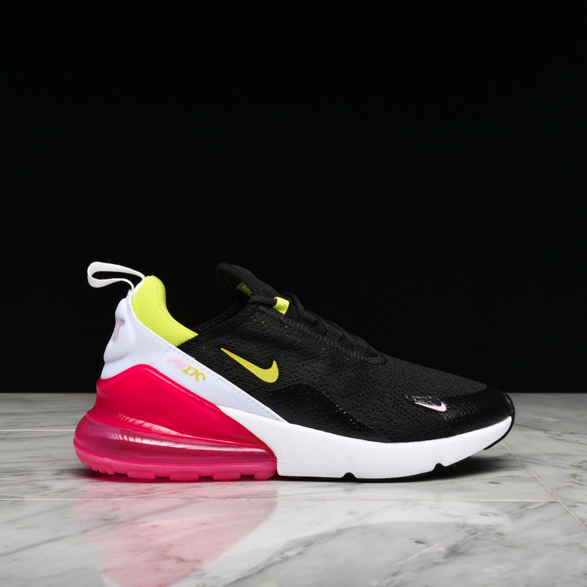 best loved 7521f 1cdbf WMNS AIR MAX 270 - BLACK / CYBER / PINK RISE