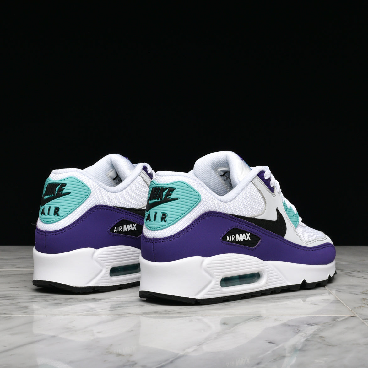 AIR MAX 90 ESSENTIAL - WHITE / BLACK / HYPER JADE