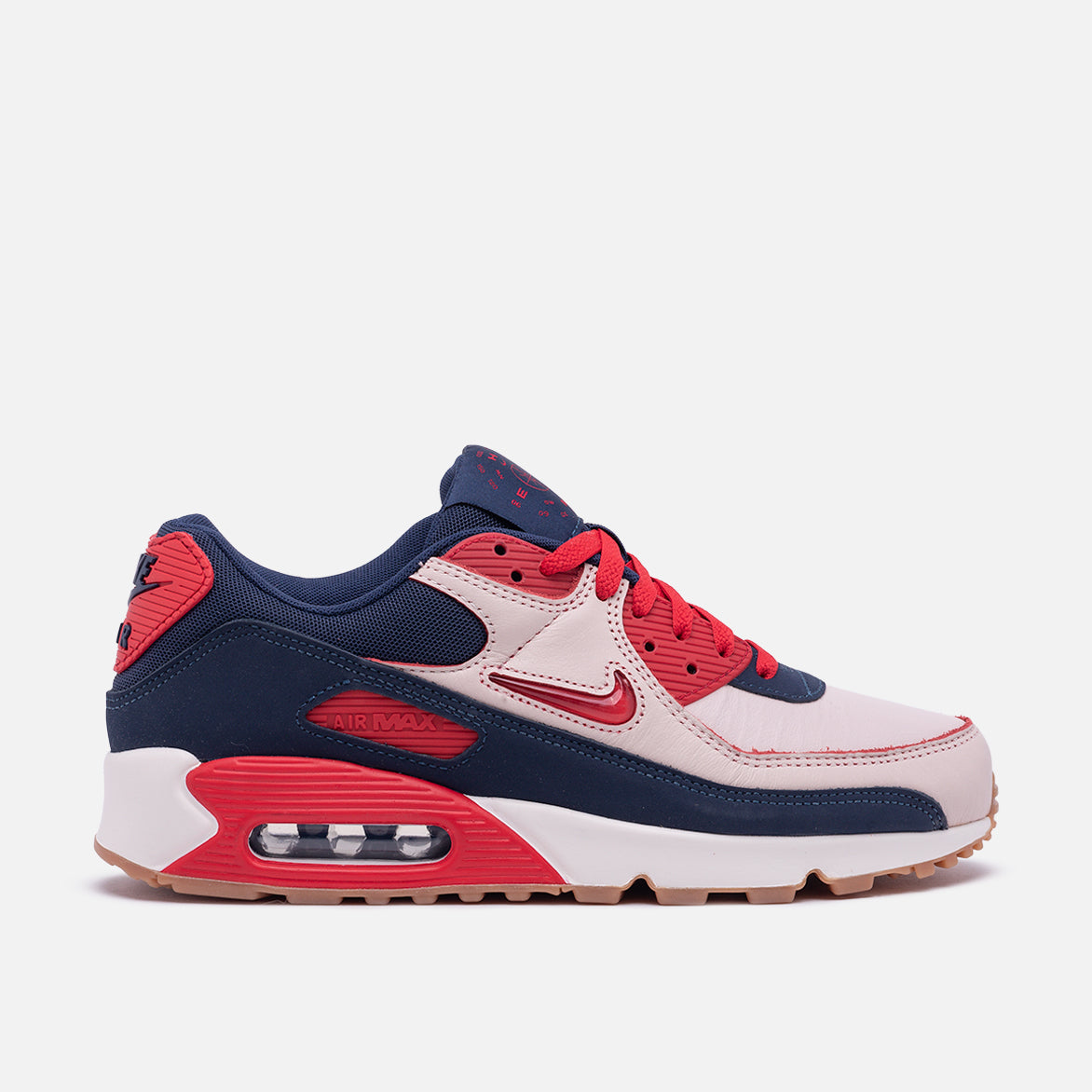 "AIR MAX 90 PRM ""HOME & AWAY"" - SAIL / UNIVERSITY RED"