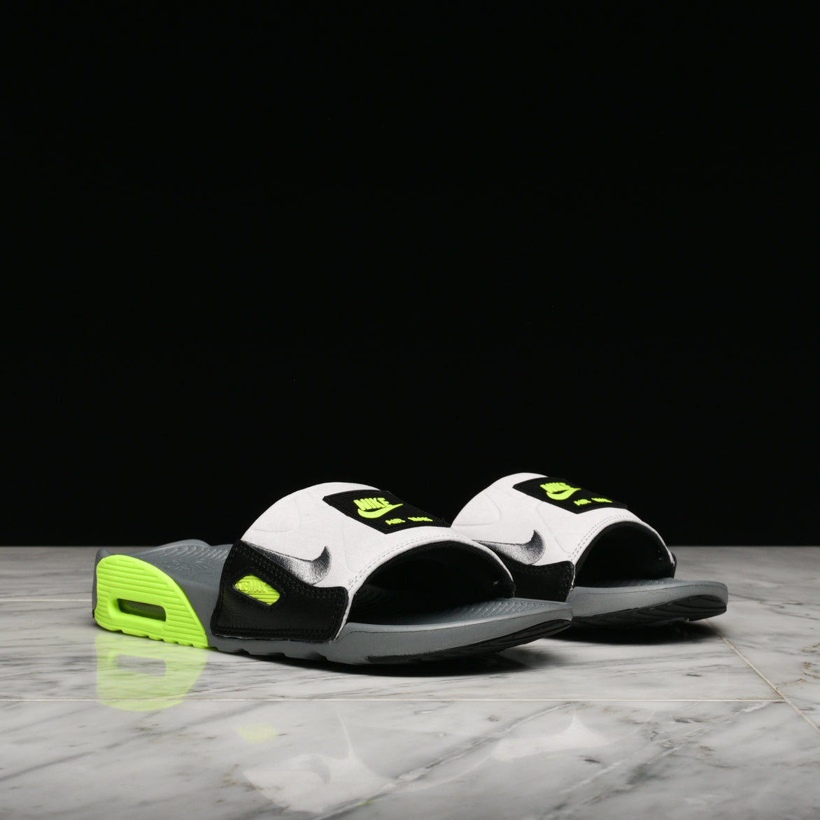 WMNS AIR MAX 90 SLIDE - GREY / VOLT