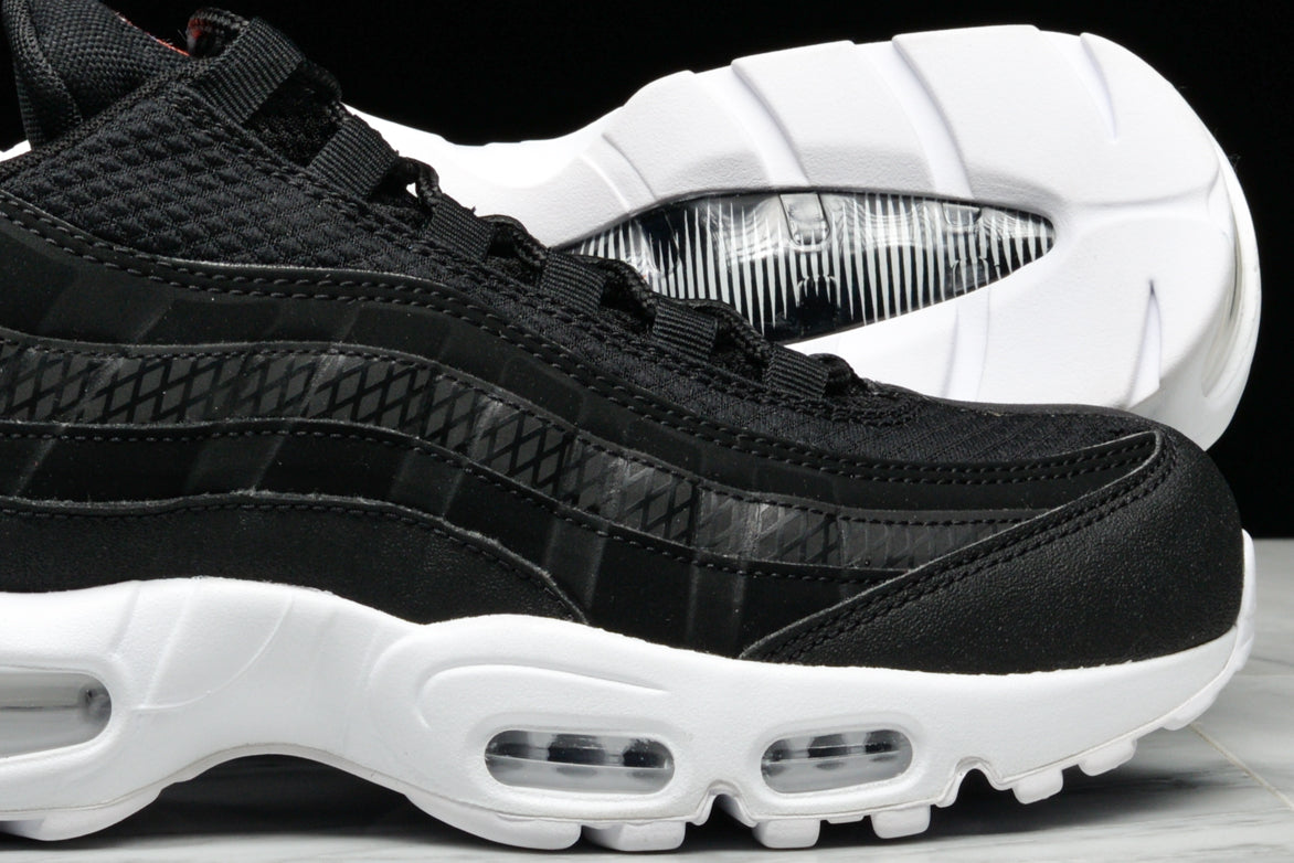 4de0eabf42 ... real air max 95 premium se black white team orange 9291a 2fc4f