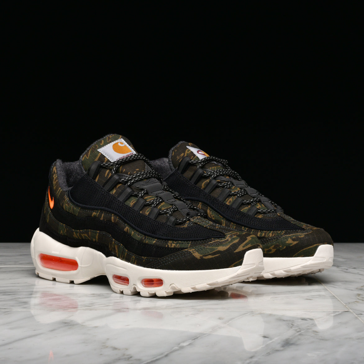 8ab9482b7ebc1 ... CARHARTT WIP X NIKE AIR MAX 95 - BLACK / TOTAL ORANGE ...