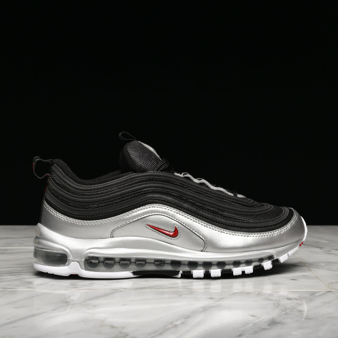 "AIR MAX 97 QS ""METALLIC PACK"" - BLACK / METALLIC SILVER"