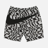 AOP SWOOSH SHORTS - WHITE / BLACK