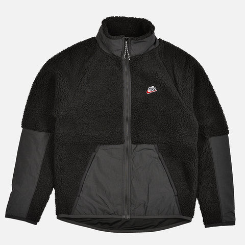 NSW SHERPA FLEECE JACKET - BLACK / OFF NOIR