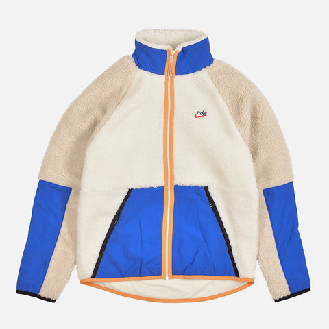NSW SHERPA FLEECE JACKET - SAIL / GAME ROYAL / DESERT SAND