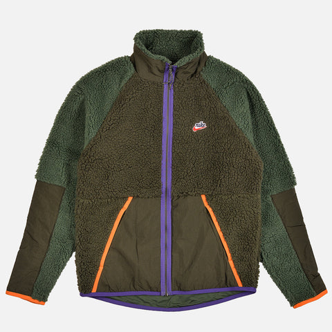 NSW SHERPA FLEECE JACKET - SEQUOIA / GALACTIC JADE