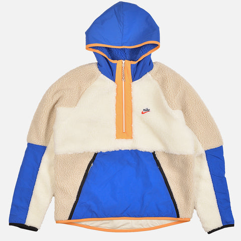 NSW 1/2 ZIP SHERPA HOODIE - SAIL / GAME ROYAL / DESERT SAND