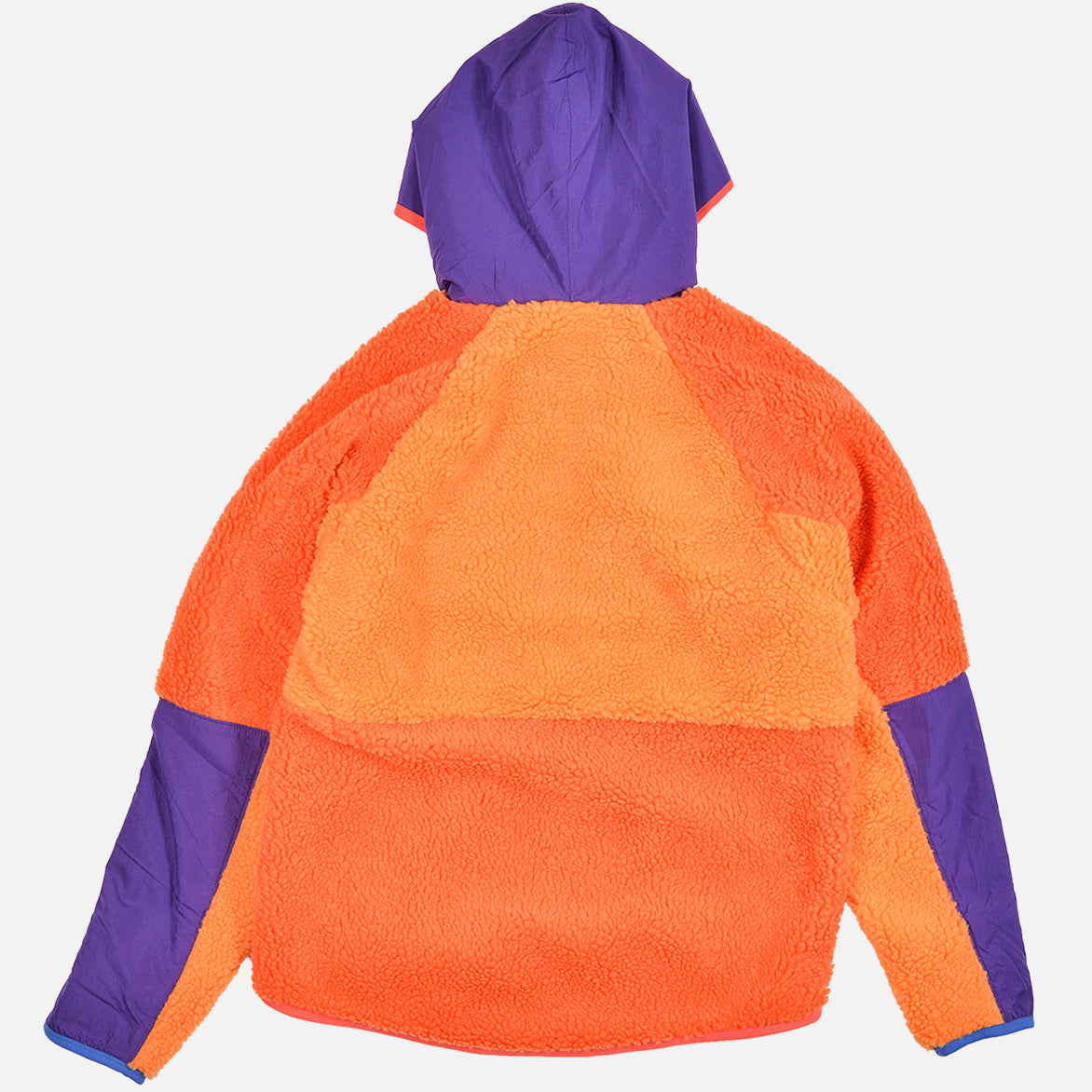 NSW 1/2 ZIP SHERPA HOODIE - KUMQUAT / COURT PURPLE