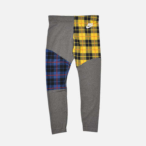 WMNS PLAID TIGHTS - CHARCOAL HEATHER / WHITE