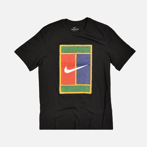 NIKECOURT S/S TEE - BLACK