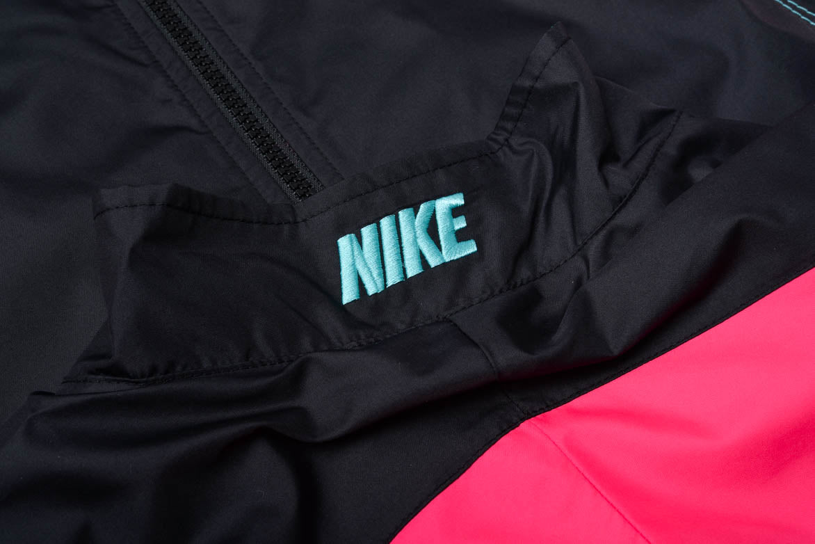 "ATMOS x NIKE TRACK JACKET ""AIR MAX2 LIGHT"" - BLACK / HYPER CRIMSON"