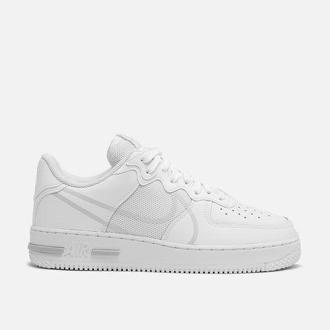AIR FORCE 1 REACT - WHITE / PURE PLATINUM