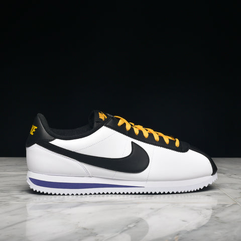 CORTEZ BASIC LEATHER - WHITE / BLACK / AMARILLO