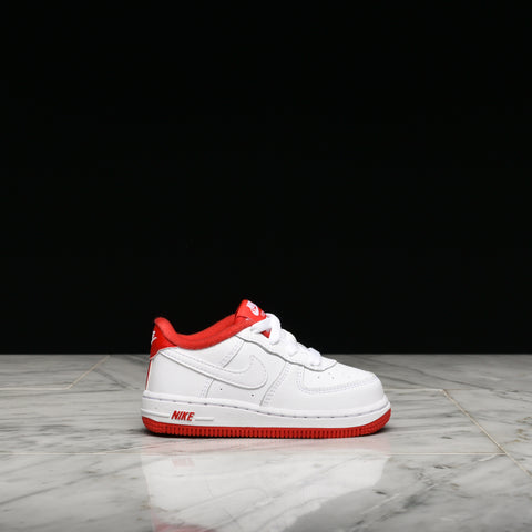 AIR FORCE 1-1 (TD) - WHITE / UNIVERSITY RED