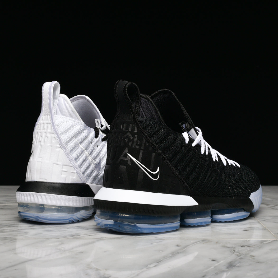 "LEBRON XVI ""EQUALITY"" - WHITE / BLACK"