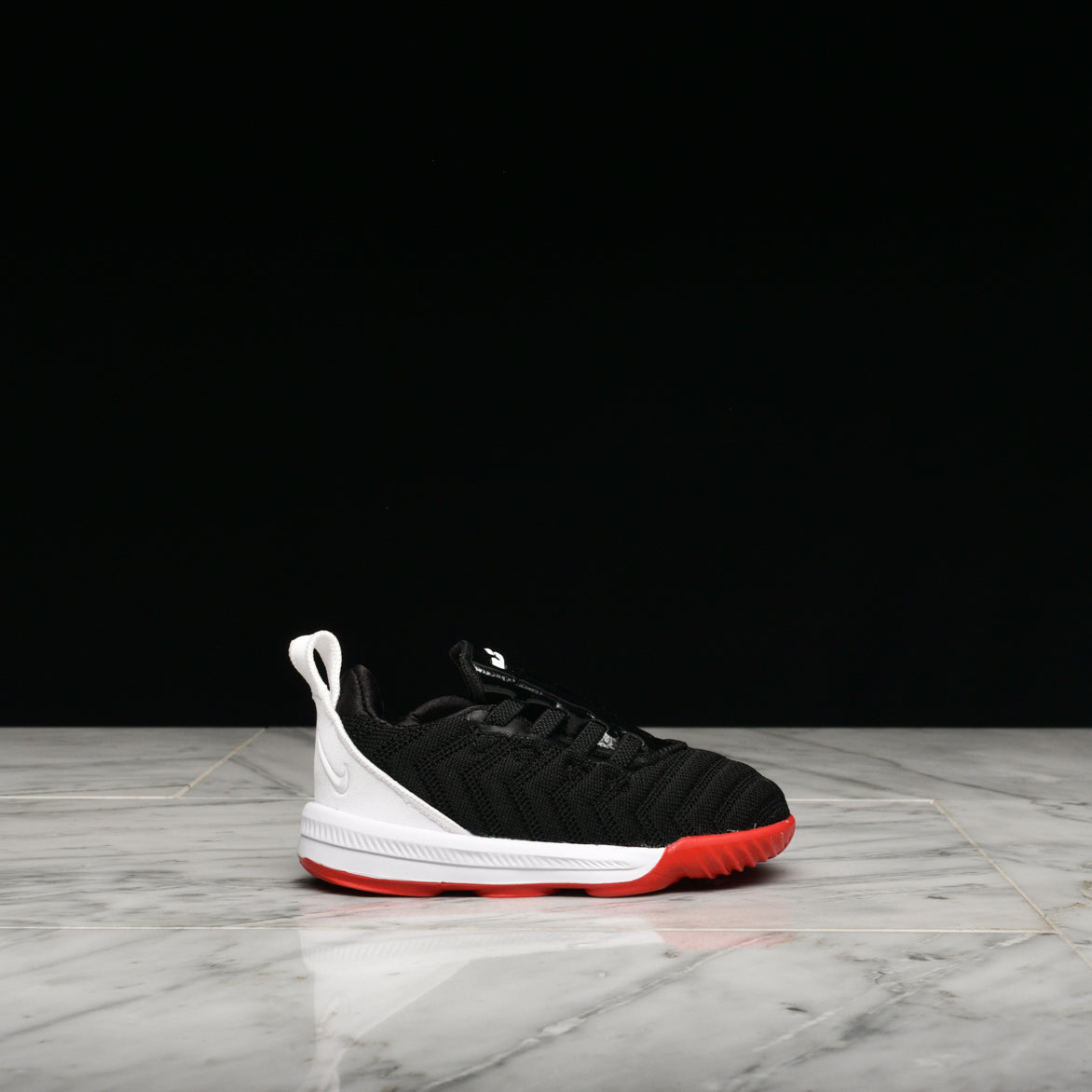 LEBRON XVI (TD) - BLACK / WHITE / UNIVERSITY RED