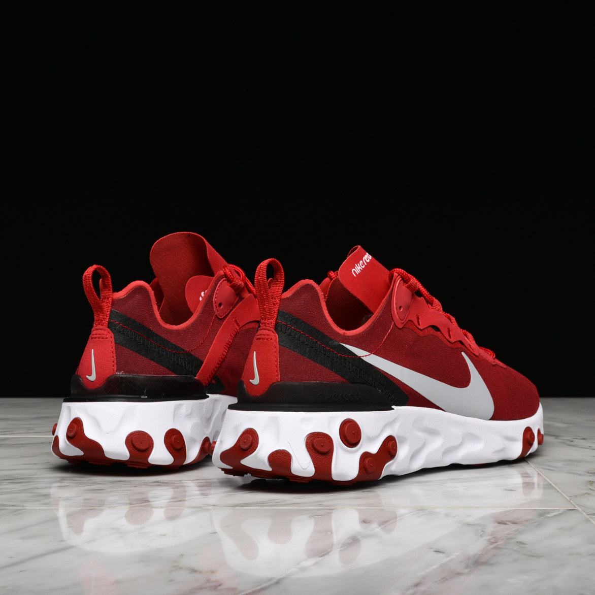 REACT ELEMENT 55 - GYM RED / WOLF GREY