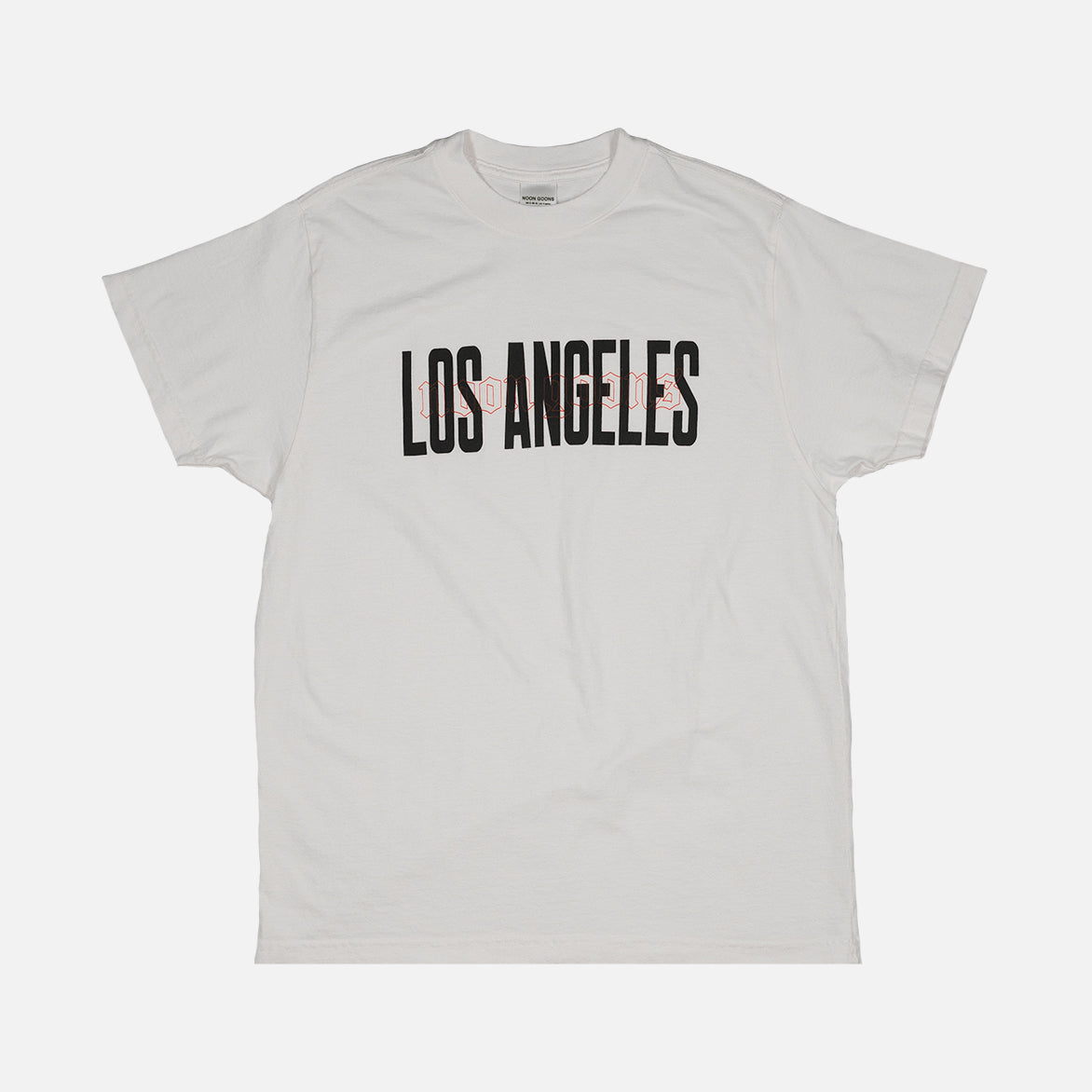 NOON GOONS IS LOS ANGELES TEE - WHITE