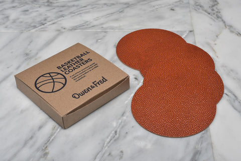 NBA BASKETBALL LEATHER COASTERS