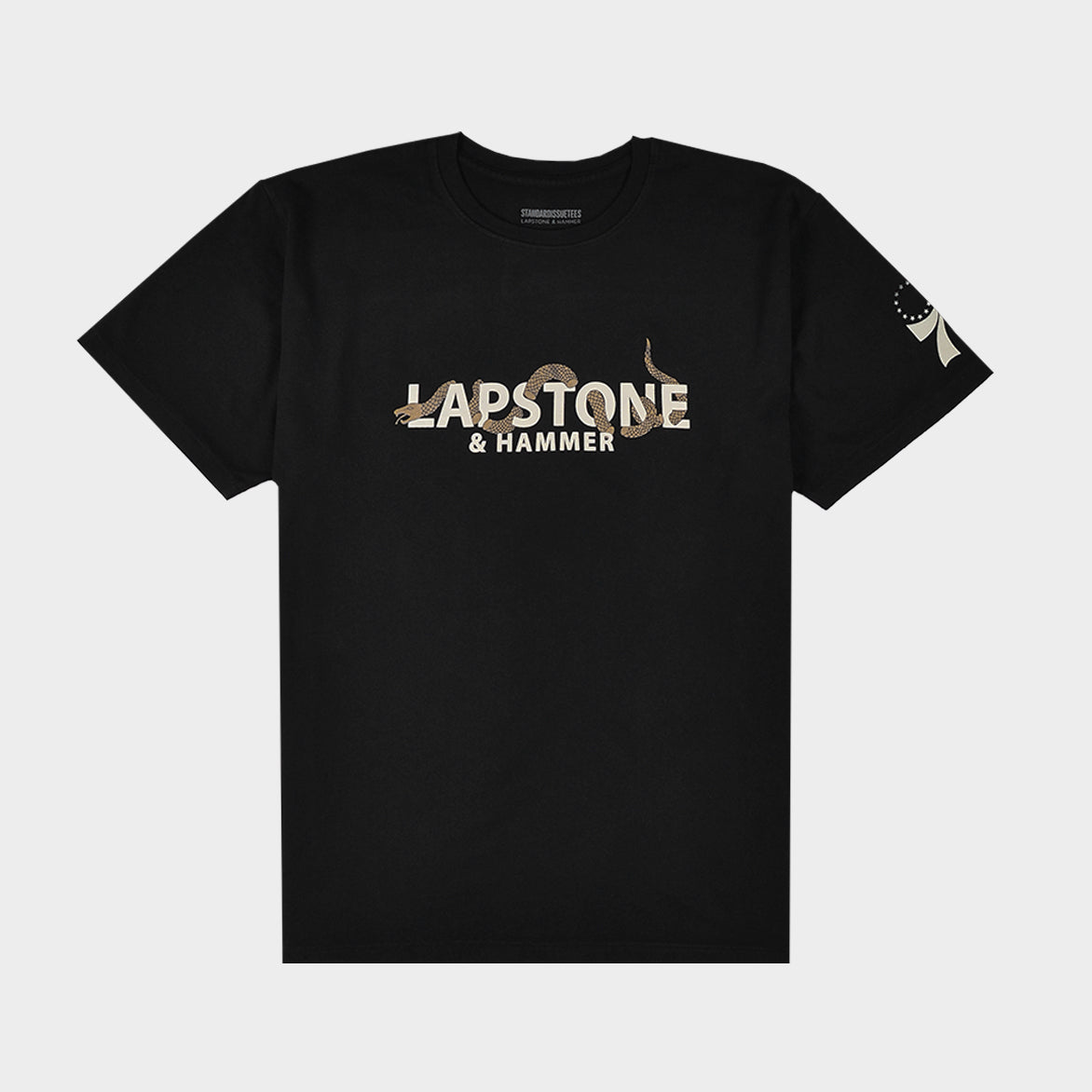 LAPSTONE X STANDARD ISSUE 76ERS TEE - BLACK