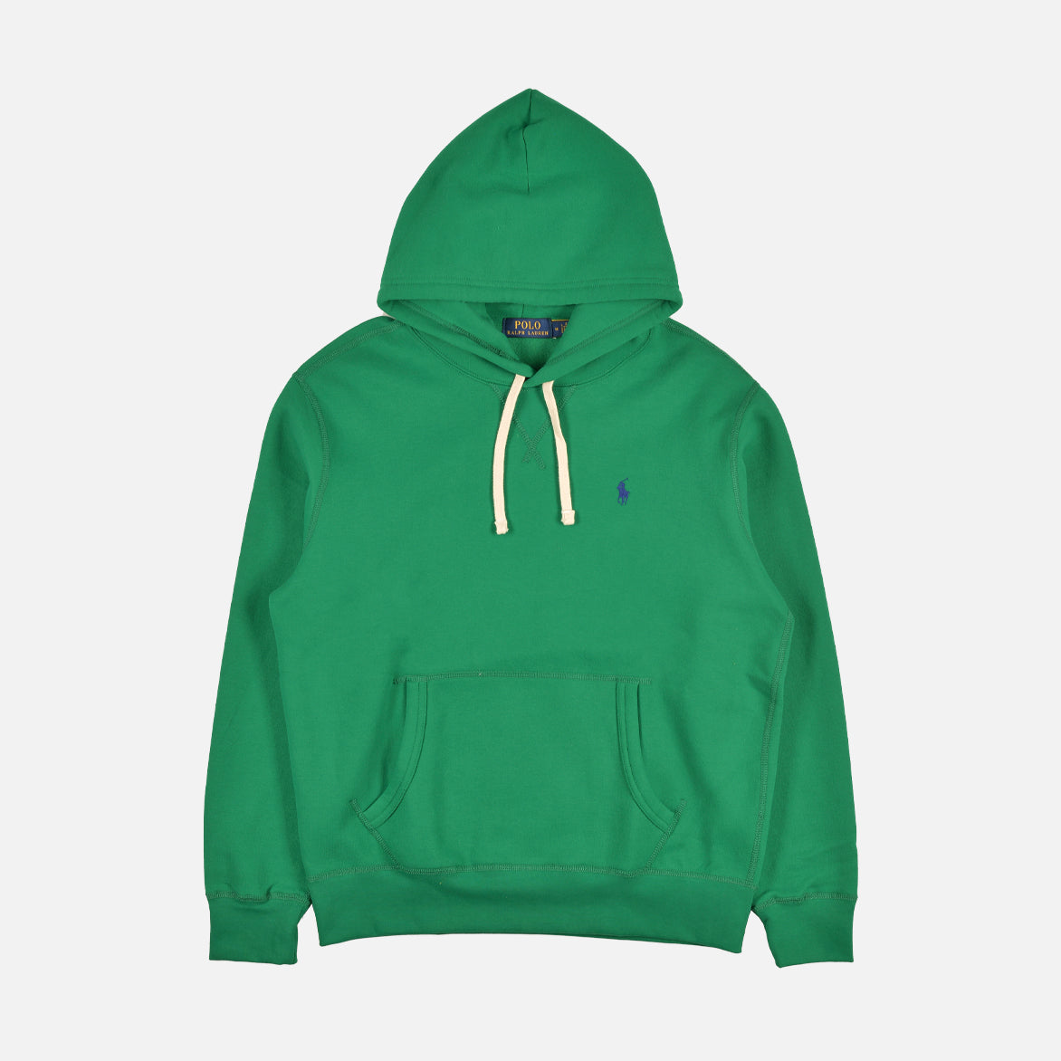 RL FLEECE HOODIE - BILLIARD GREEN