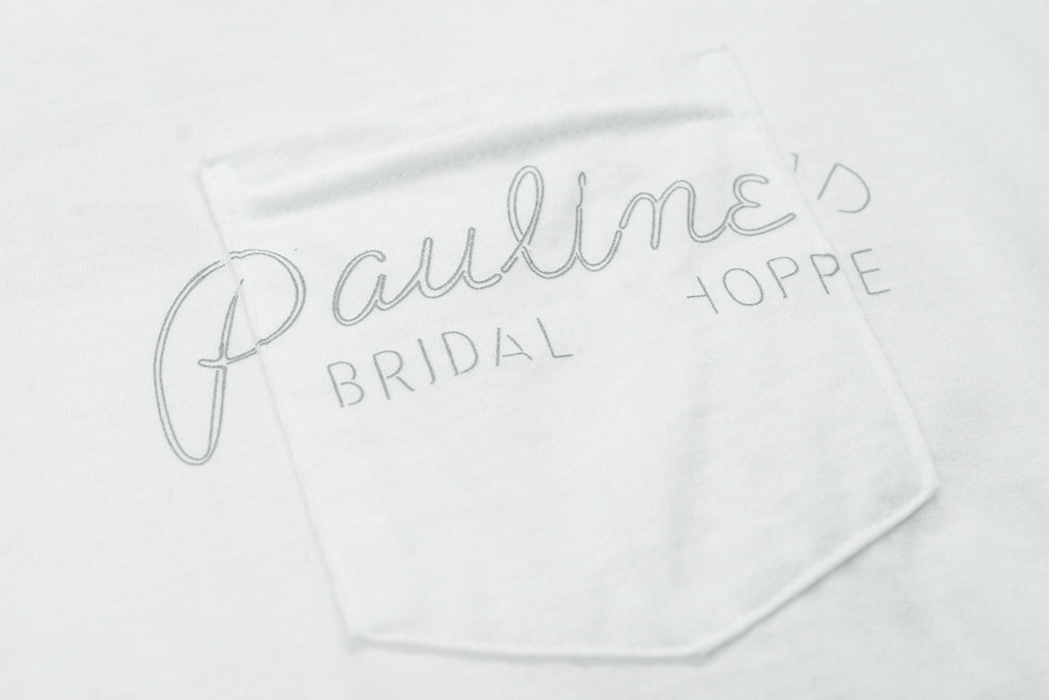 PAULINE'S NEON POCKET TEE - WHITE