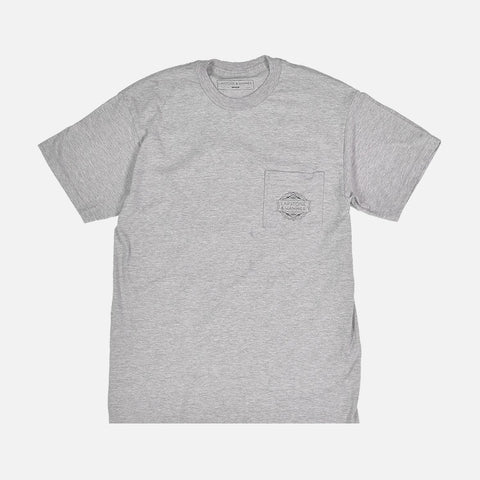 LAPSTONE LOGO POCKET TEE - GREY